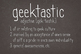 Geektastic Skinny Font for Commercial Use