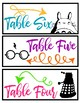 Geeky Table Pod Labels (Totoro, Harry Potter, & Doctor Who)