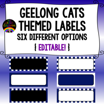 Geelong Cats Themed Labels {Editable!}
