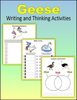 Geese - Writing and Thinking Activities