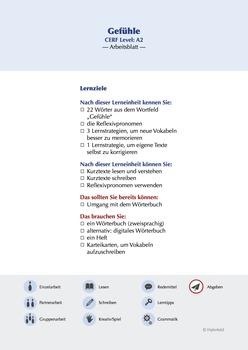 Gefühle/Emotions A2 German as a Foreign Language (GFL) - B
