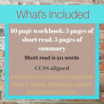 Geisha Short Read with Summary Workbook