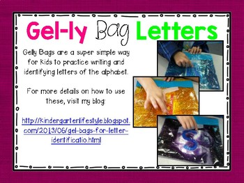 Gel-ly Bag Letters