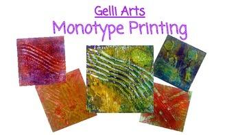 Gelli Arts- Monotypes