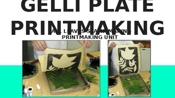 Gelli Plate Printmaking (How-To) Lesson Plan PowerPoint
