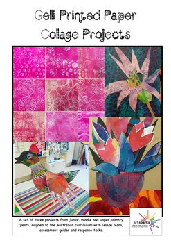 Gelli Printed Paper Collage Projects