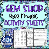 MUSIC FREE Worksheets K-5 Composing Theory Sub Tub Activities