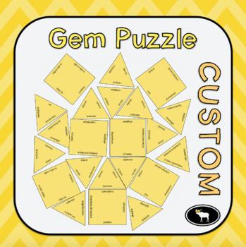 Gem Vocabulary Puzzle Template