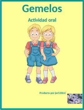 Verbos reflexivos (Spanish Reflexive verbs) Gemelos Twins Speaking activity