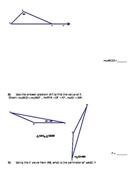Gemetry Semester/Quarter Review