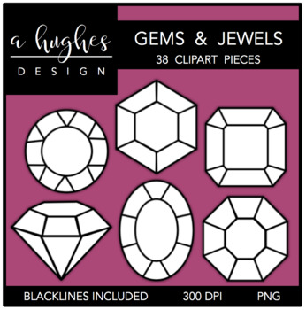 Gems & Jewels Clipart {A Hughes Design}