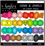 Gems & Jewels Clipart {A Hughes Design}