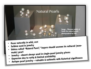 Rocks & Minerals Gems: Pearl PowerPoint with Study Guide