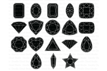 Gems SVG, Diamond SVG, Precious Stone SVG files. Gemstones Clipart