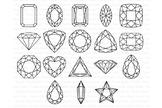 Gems SVG, Diamond SVG, Precious Stone SVG files. Gemstones