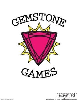 Gemstone Games: ring toss, memory, ping pong drop, matching, bingo