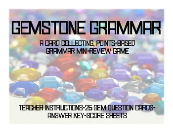 Gemstone Grammar Card Game