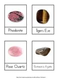 Gemstone Montessori 3 Part Cards