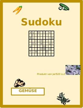 Gemüse (Vegetables in German) Sudoku