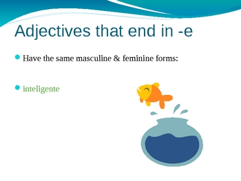 Gender Adjective Agreement Spanish