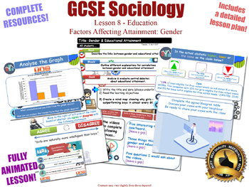 Gender & Educational Achievement - Sociology of Education (GCSE Sociology -8/20)