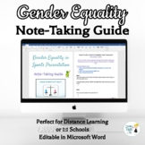 Gender Equality Note-Taking Guide - Online Distance Learning