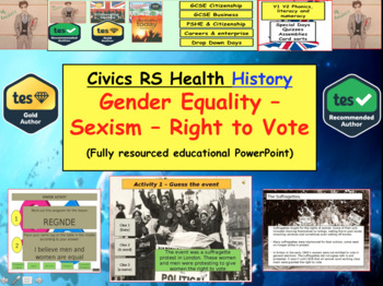 Gender Equality / Religion / Sexism + Right to Vote - British Politics