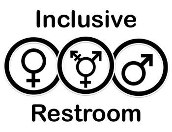 Gender Neutral Restroom Sign - LGTB Friendly Bathrooms