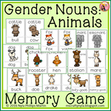 Gender Nouns: Animals - Memory Game