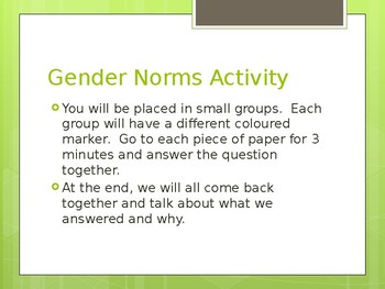 Gender Roles PowerPoint Health Lesson