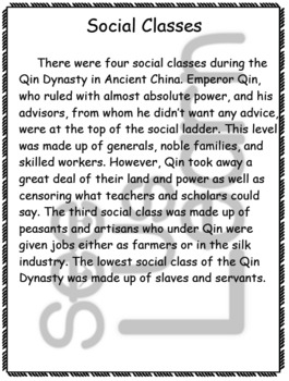 Gender Roles and Social Classes in Qin Dynasty China Pack