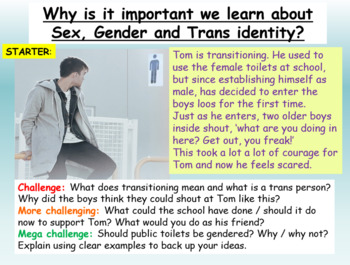 Gender and Trans Identity