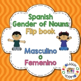 Gender of Nouns in Spanish- Masculino ó Femenino Flip Book