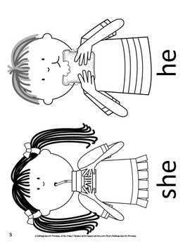 Gender pronouns: he, she, his, her