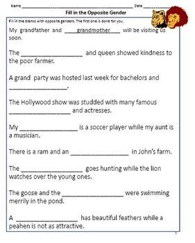 5 grade science worksheets
