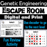 Gene Cloning and Genetic Engineering Activity: Science Escape Room Biology