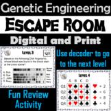 Gene Cloning & Genetic Engineering Activity: Biology Escape Room Science Game