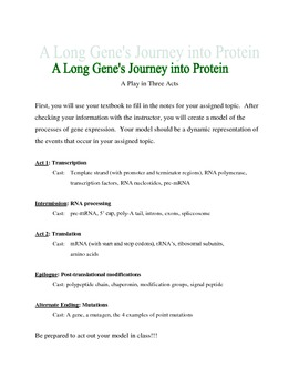 Gene expression: Transcription and Translation complete interactive lesson