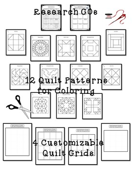 Genealogy, Family Tree Research and Freedom Quilt Art Activity Bundle
