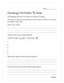 Genealogy Worksheet: My Family