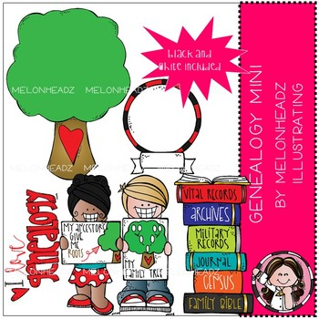 Genealogy clip art - Mini - by Melonheadz