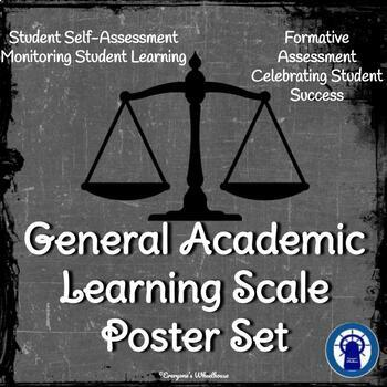 General Academic Learning Scale Poster Set--Chalkboard theme