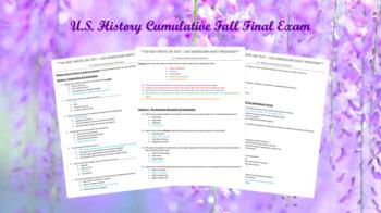 General/Advanced U.S. History Cumulative Final Exam (1st semester)