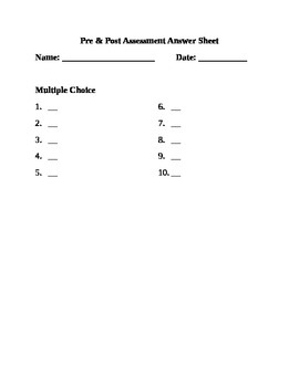 General Answer Sheet