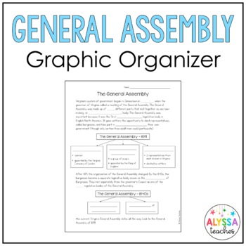 General Assembly (1619) Worksheet (VS.3d)