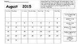 General Behavior Calendar 2015-2016 (editable)