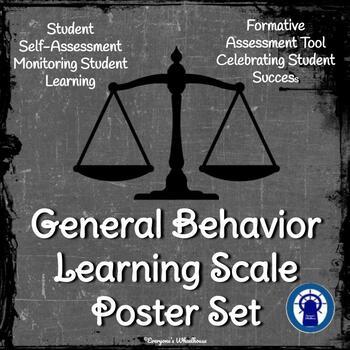 General Behavior Learning Scale Poster/Slide Set Chalkboard Theme