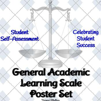 General Academic Learning Scale Poster/Slide Set Trophy/Award Theme