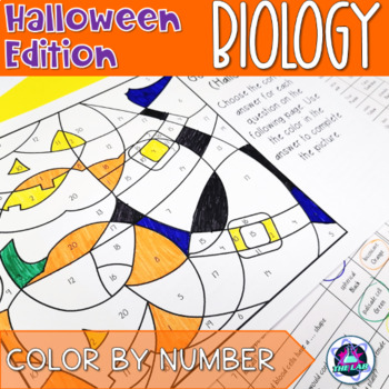 Halloween General Biology Color-by-Number
