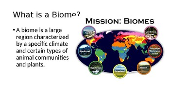 General Biomes Information Powerpoint